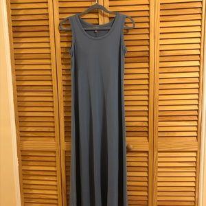 J Jill blue sleeveless cotton dress XS